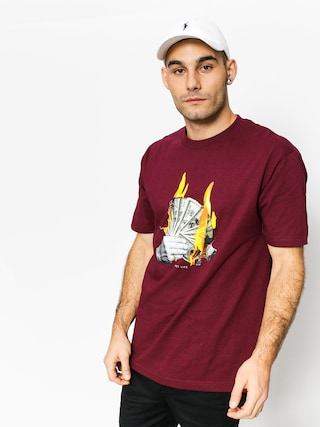 Tričko DGK Fast Life (burgundy)