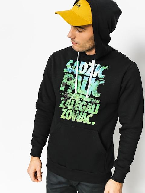 Mikina s kapucí El Polako Sadzić HD (black)