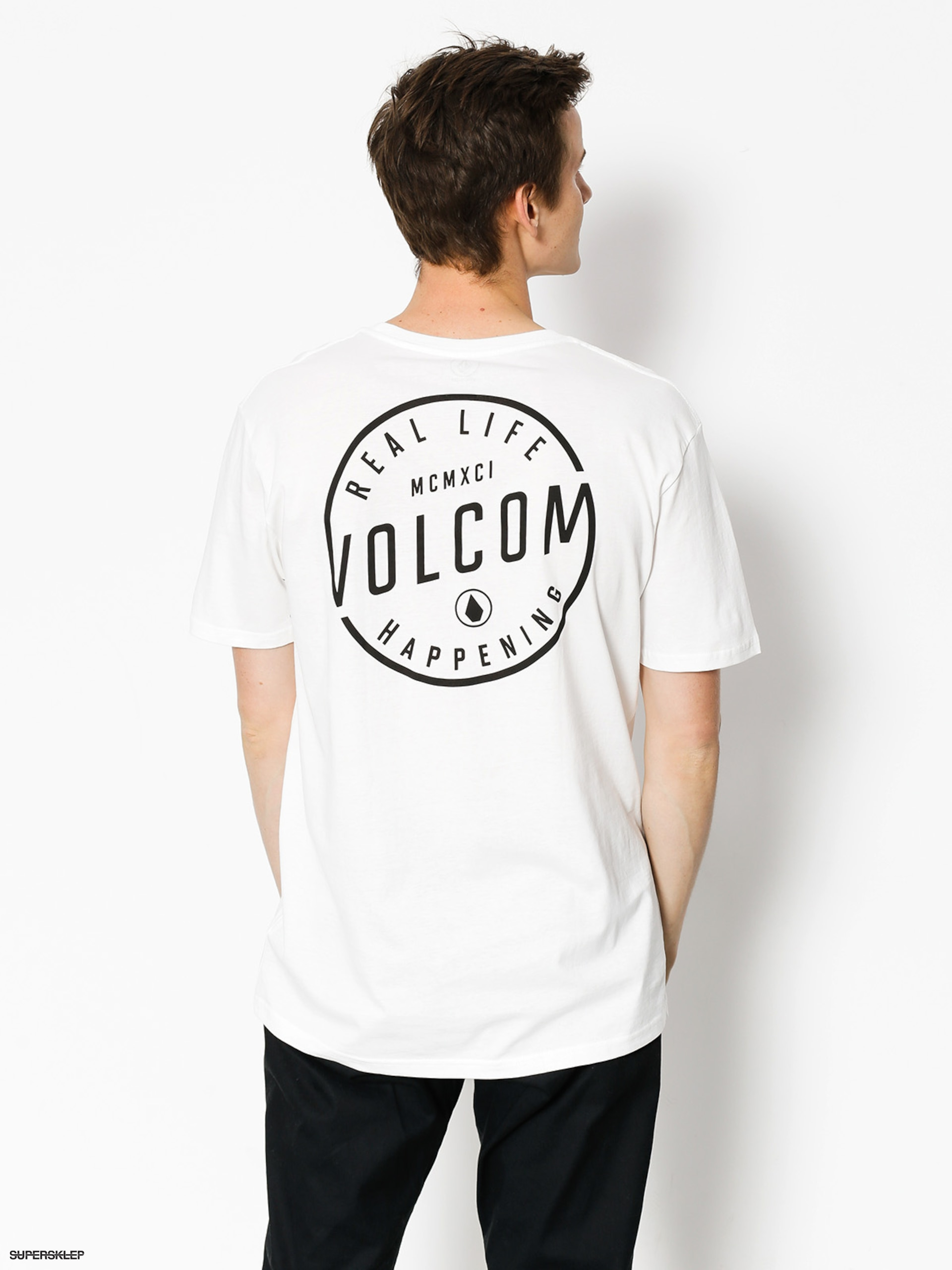 Tričko Volcom On Lock Bsc (wht)