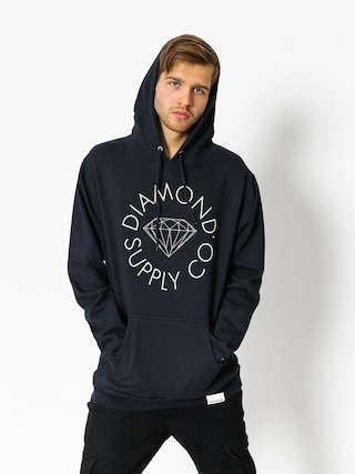 Mikina s kapucí Diamond Supply Co. Circle Logo HD (navy)