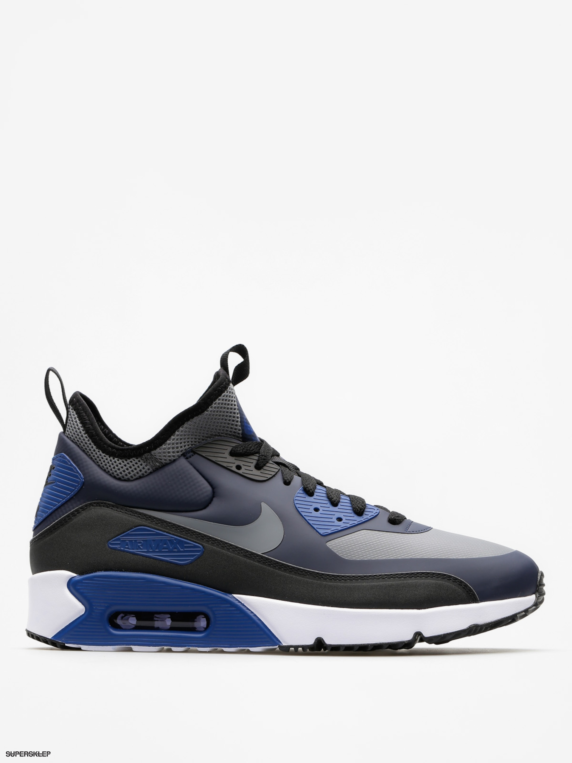 Boty Nike Air Max 90 Ultra Mid Winter (obsidian/cool grey black gym blue)