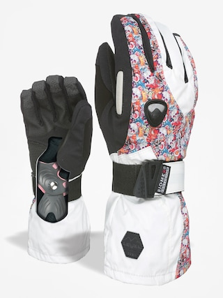 Rukavice Level Butterfly Wmn (white/red)