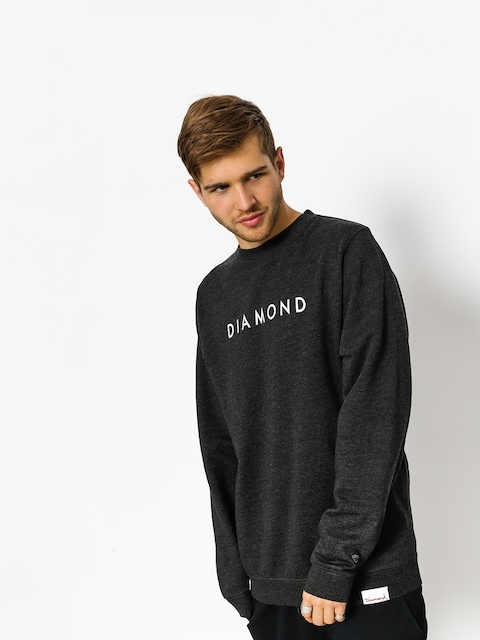 Mikina Diamond Supply Co. Futura Crew Neck (charcoal heather)