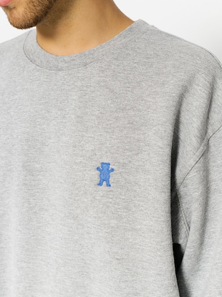 Mikina Grizzly Griptape Og Bear Embroidered Crewneck (heather grey)