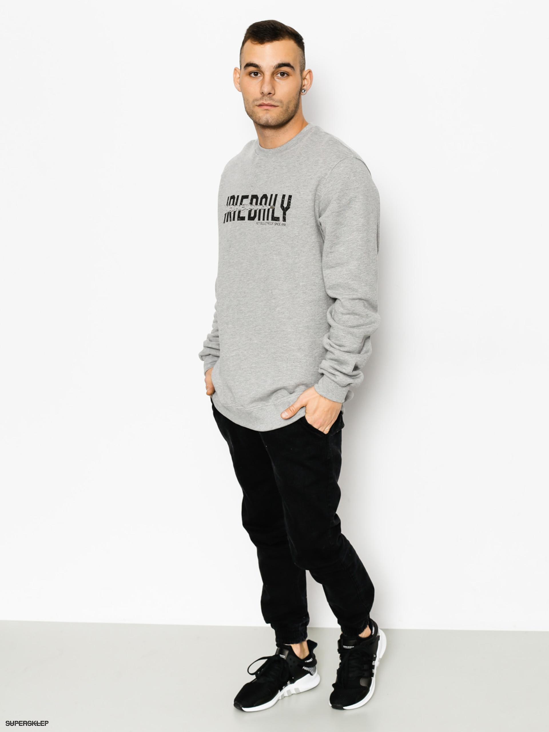 Iriedaily Mikina Shot 2 Pieces Crew (grey mel)
