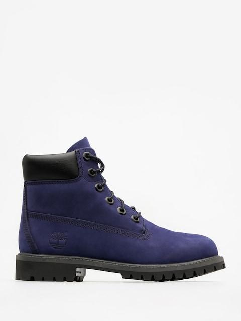 Timberland Dětské boty 6 In Premium Wp (dark blue nubuck)