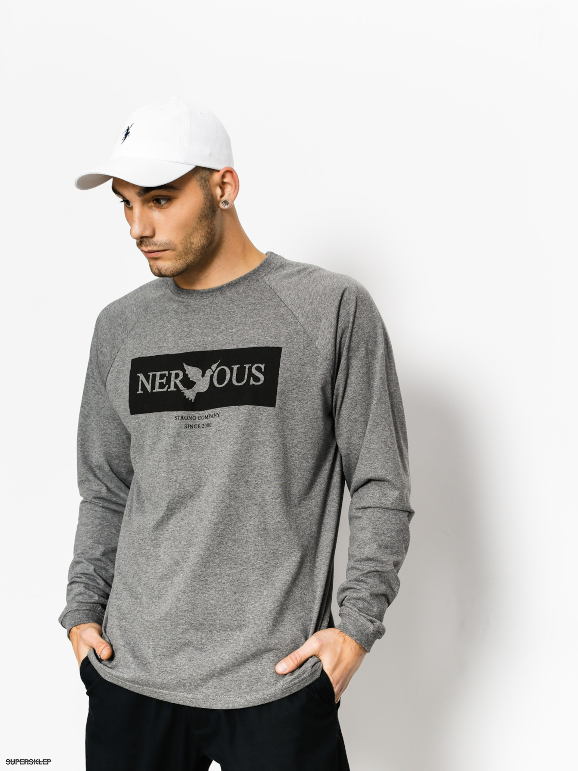 Nervous Longsleeve Brand Box (graphite)