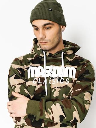 Mikina s kapucí MassDnm Classics HD (woodland camo)