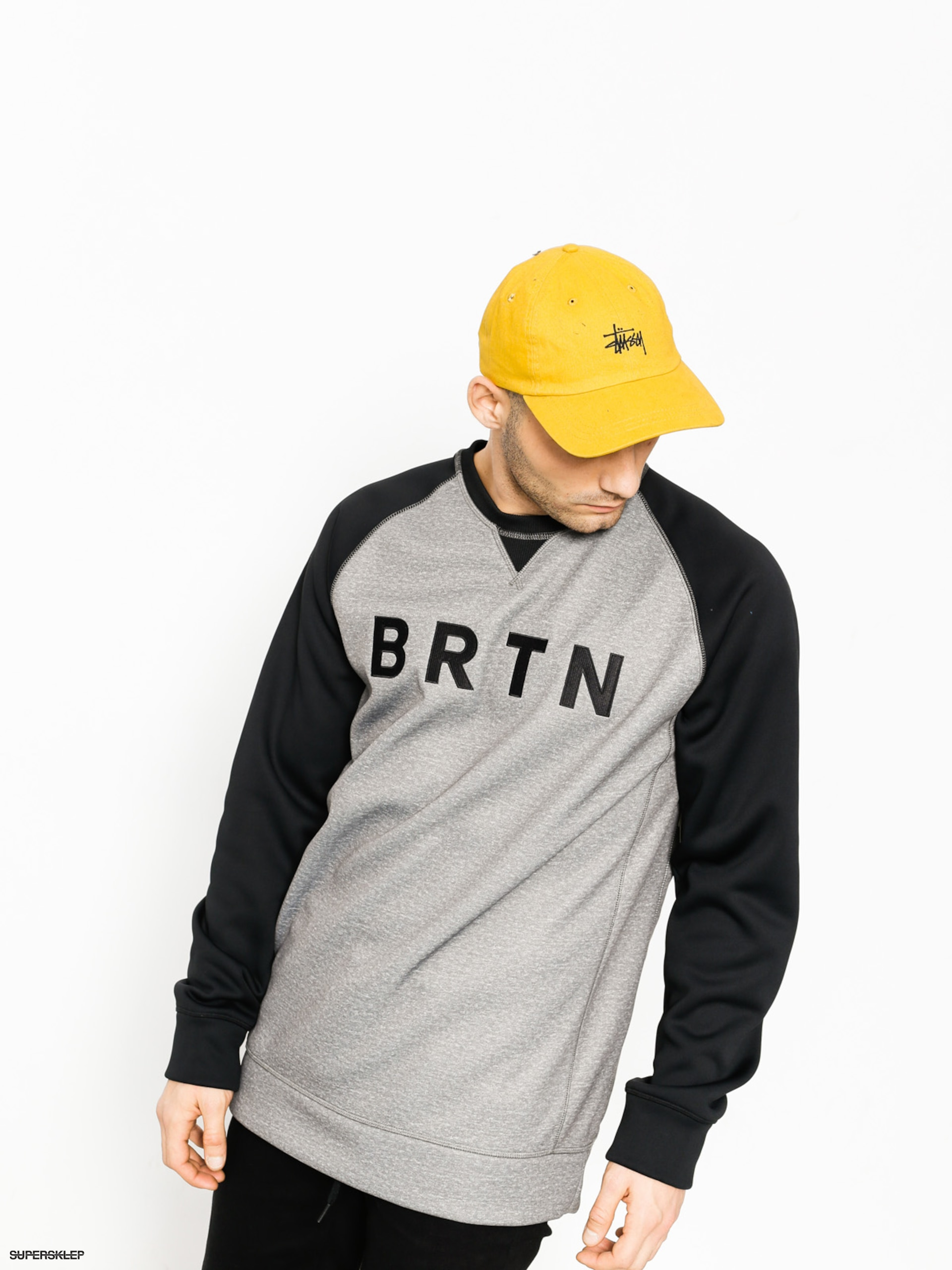 Burton Mikina Bonded Crew (monument heather)