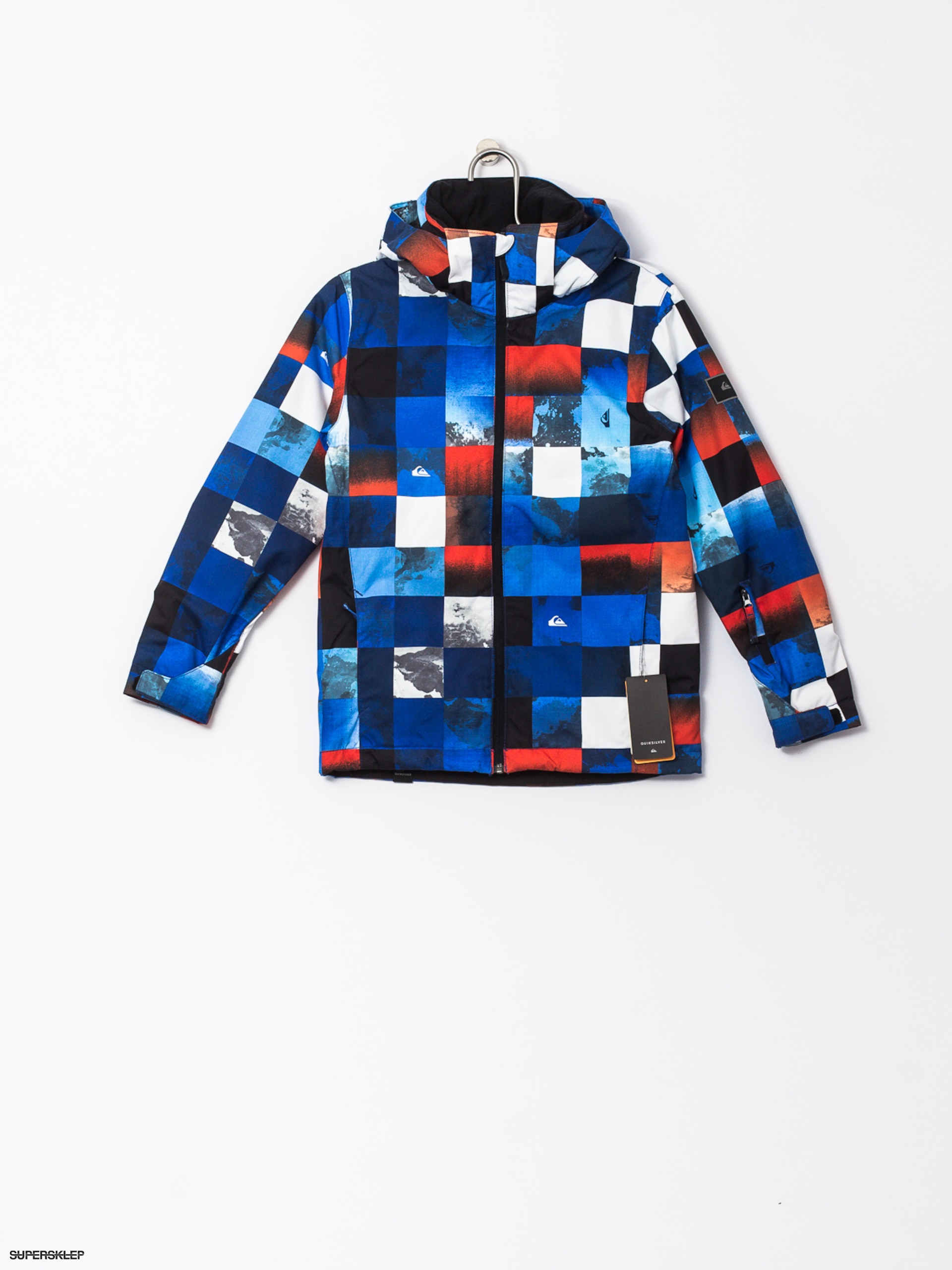 Snowboardová bunda Quiksilver Mission (blue red icey check)