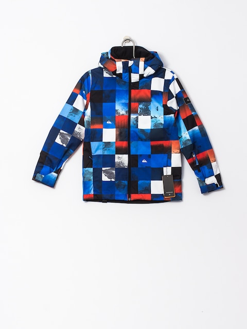Snowboardová bunda Quiksilver Mission Junior (blue red icey check)