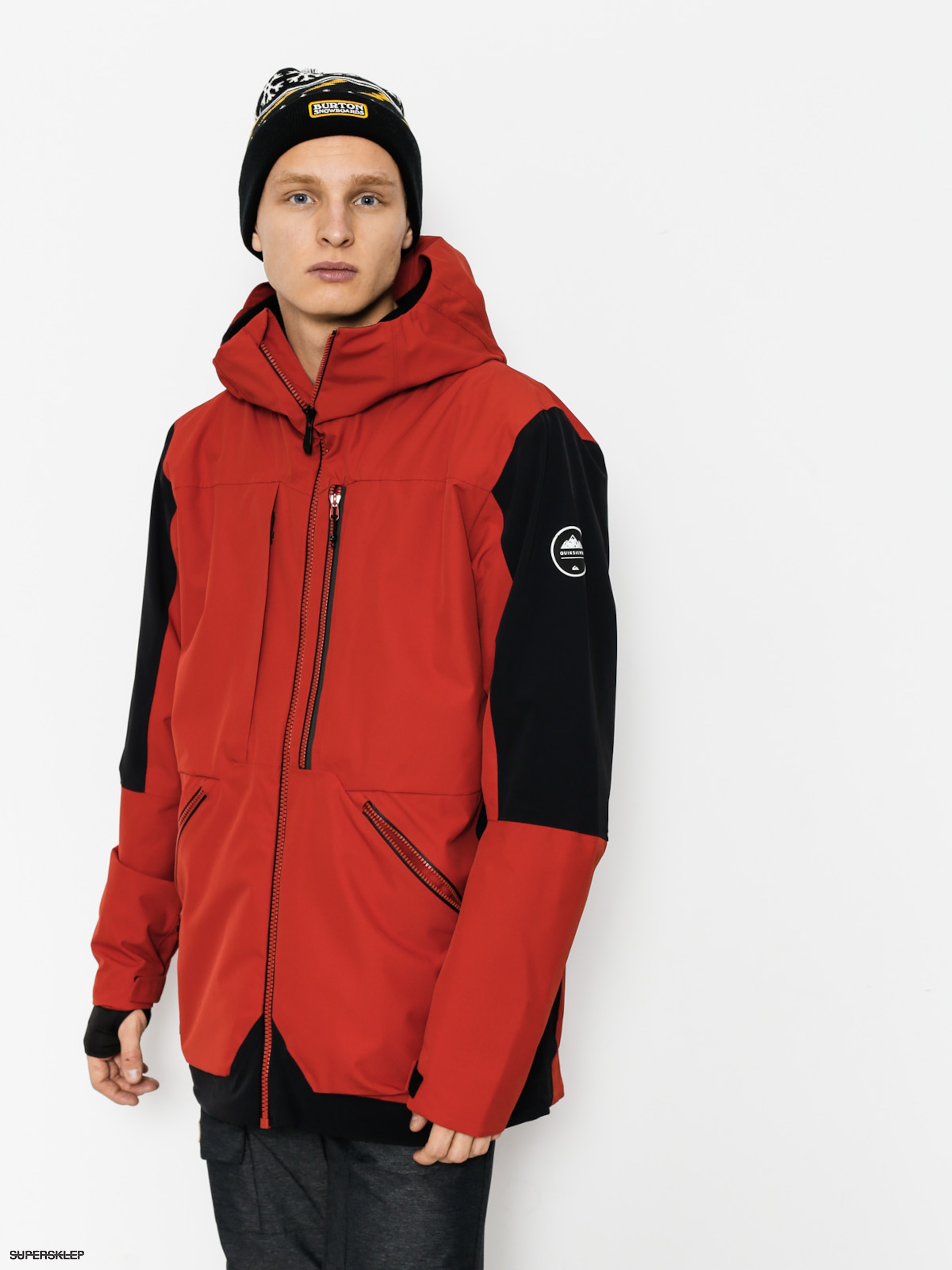 Snowboardová bunda Quiksilver Travis Rice Stretch (ketchup red)