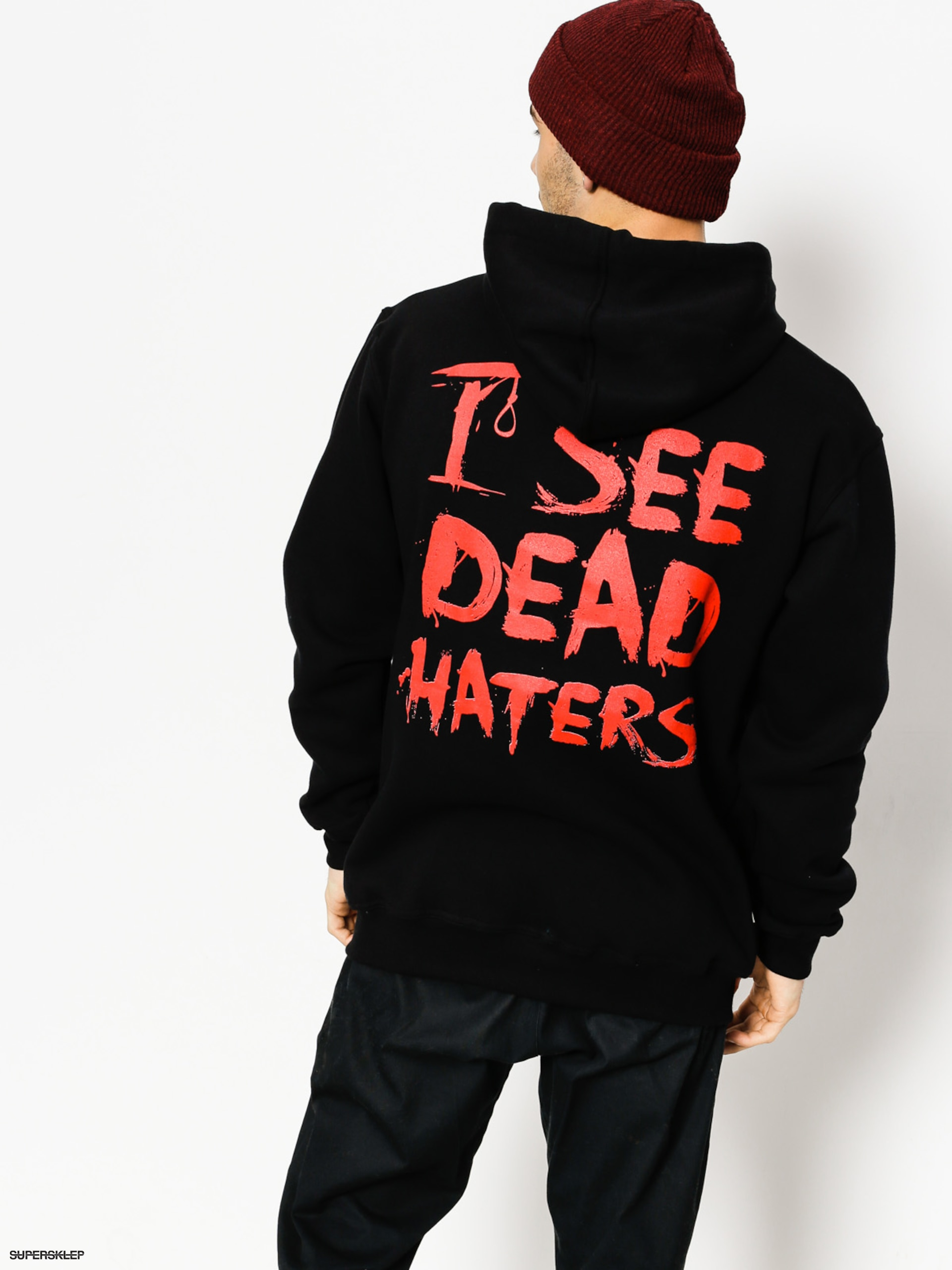 Mikina s kapucí Diamante Wear I See Dead Haters HD (black)