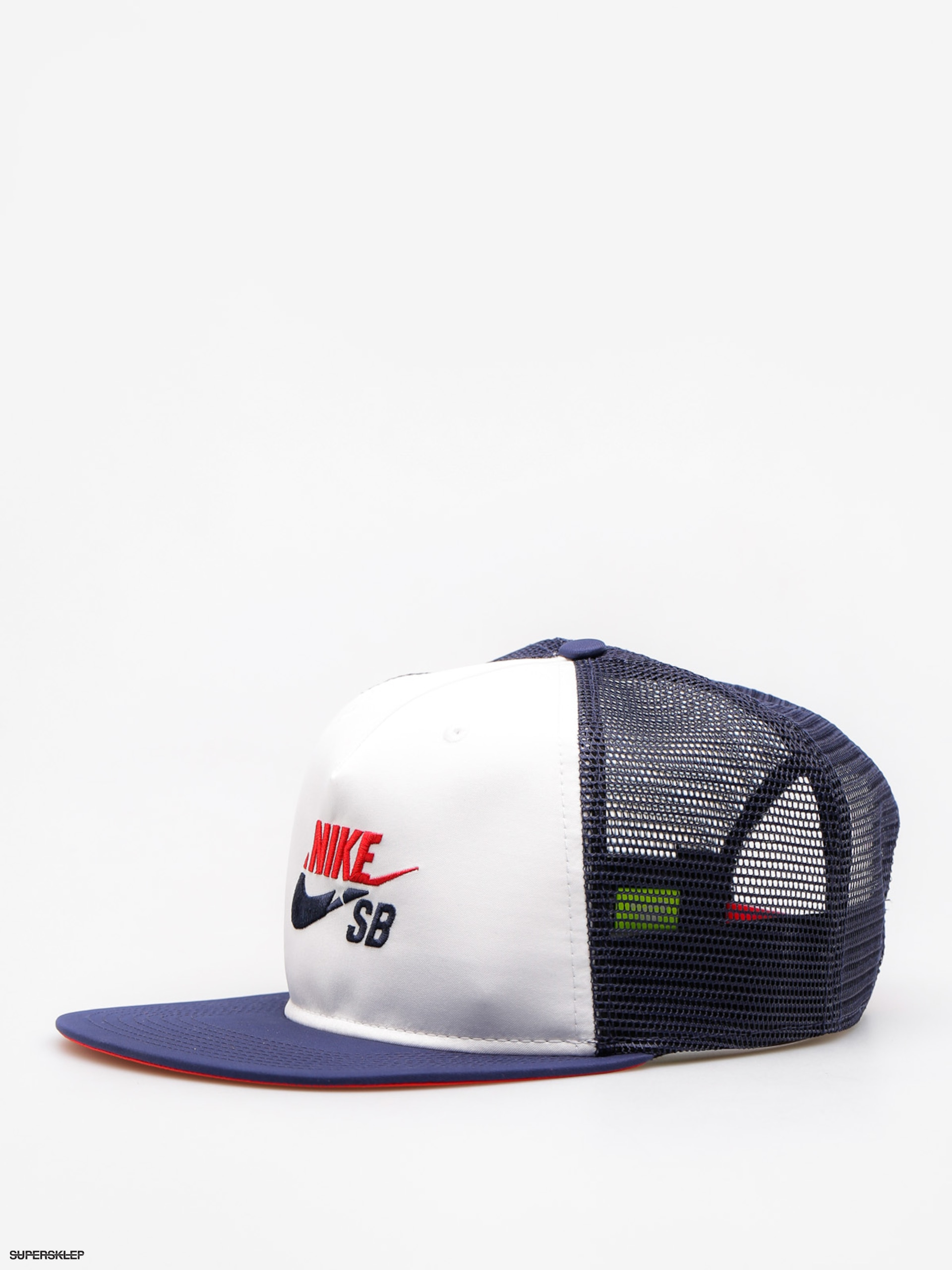 Nike SB Kšiltovka Trucker ZD (white/midnight navy/university red)