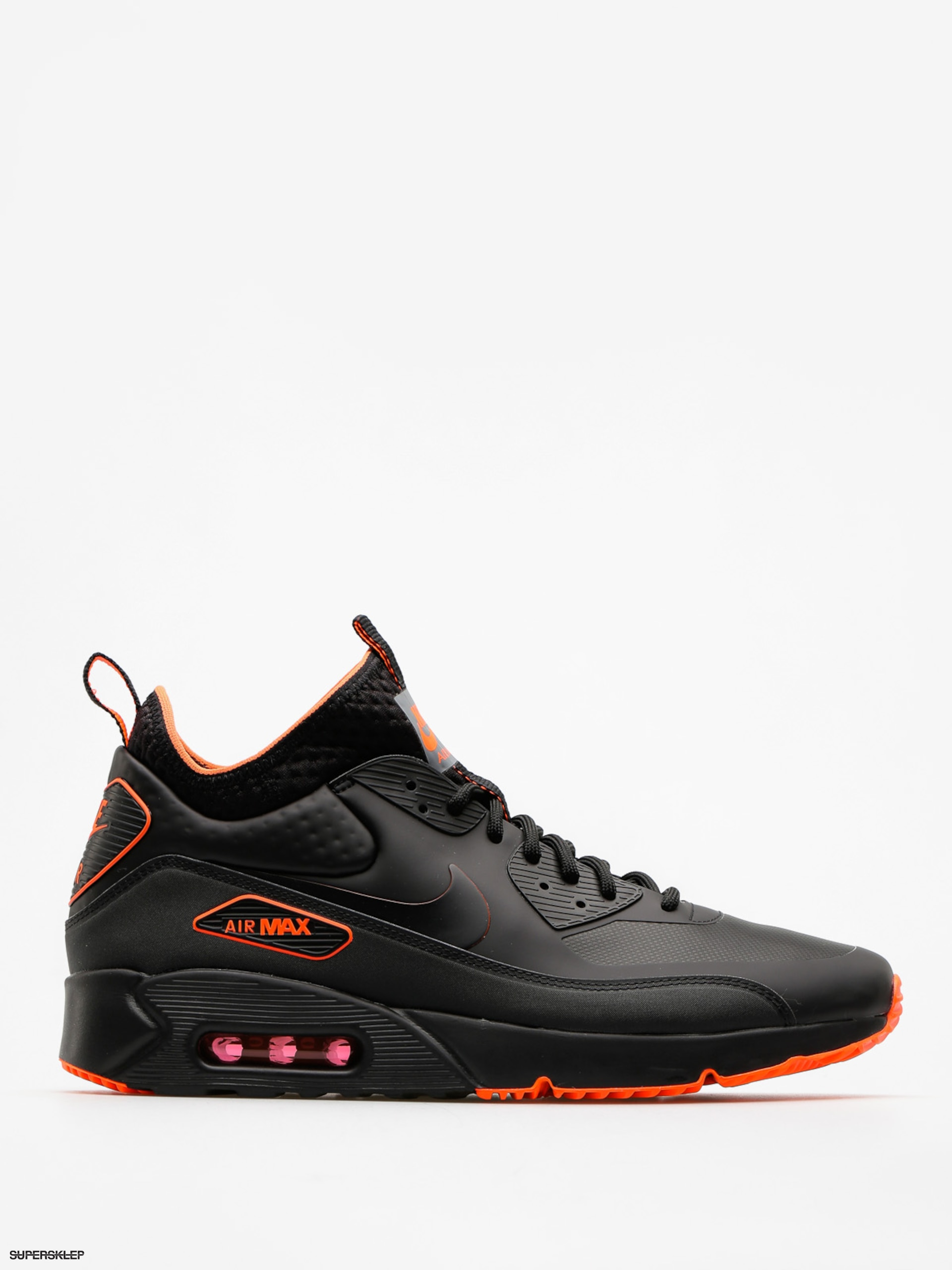 Nike Boty Air Max 90 Ultra Mid Winter Se (black/black total crimson cool grey)