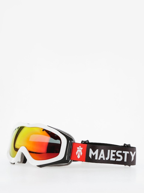 Majesty Brýle na snowboard Patrol (glossy white/red ruby mirror/clear amber)