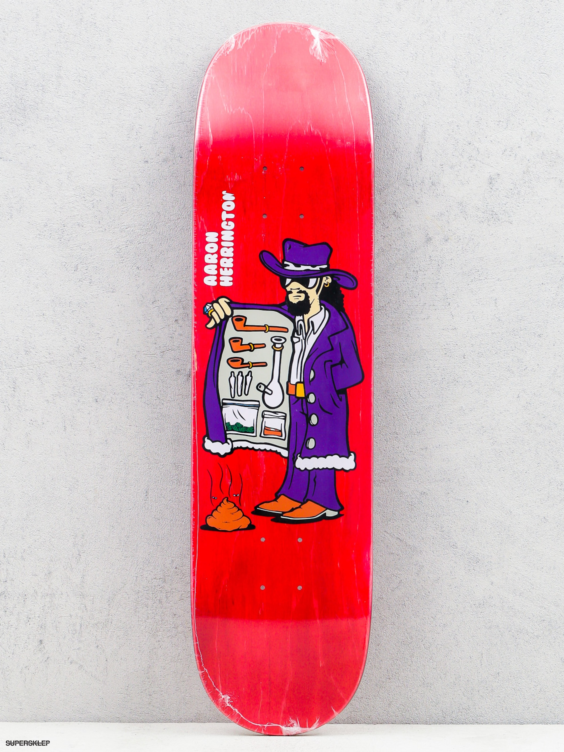 Polar Skate Deska Aaron Herrington Drug Pimp (red)
