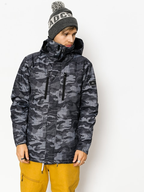 Snowboardová bunda Quiksilver Mission Pr (black camokazi)