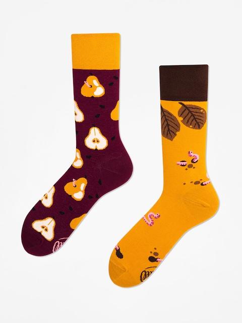 Ponožky Many Mornings Pear Pair (maroon/mustard)