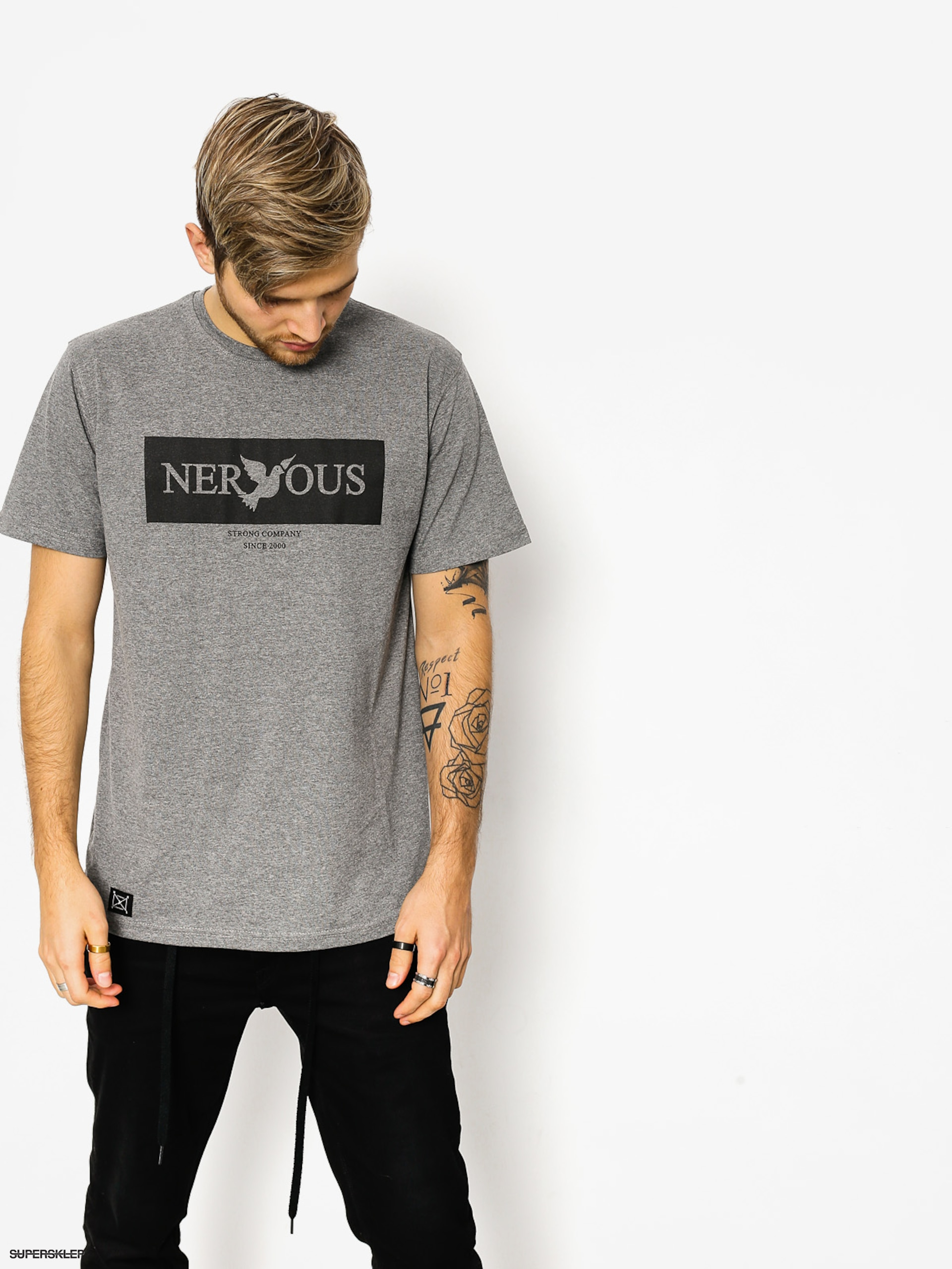 Tričko Nervous Brand Box (grey)