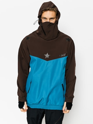 Snowboardová bunda Majesty Deathproff Softshell (brown/blue)
