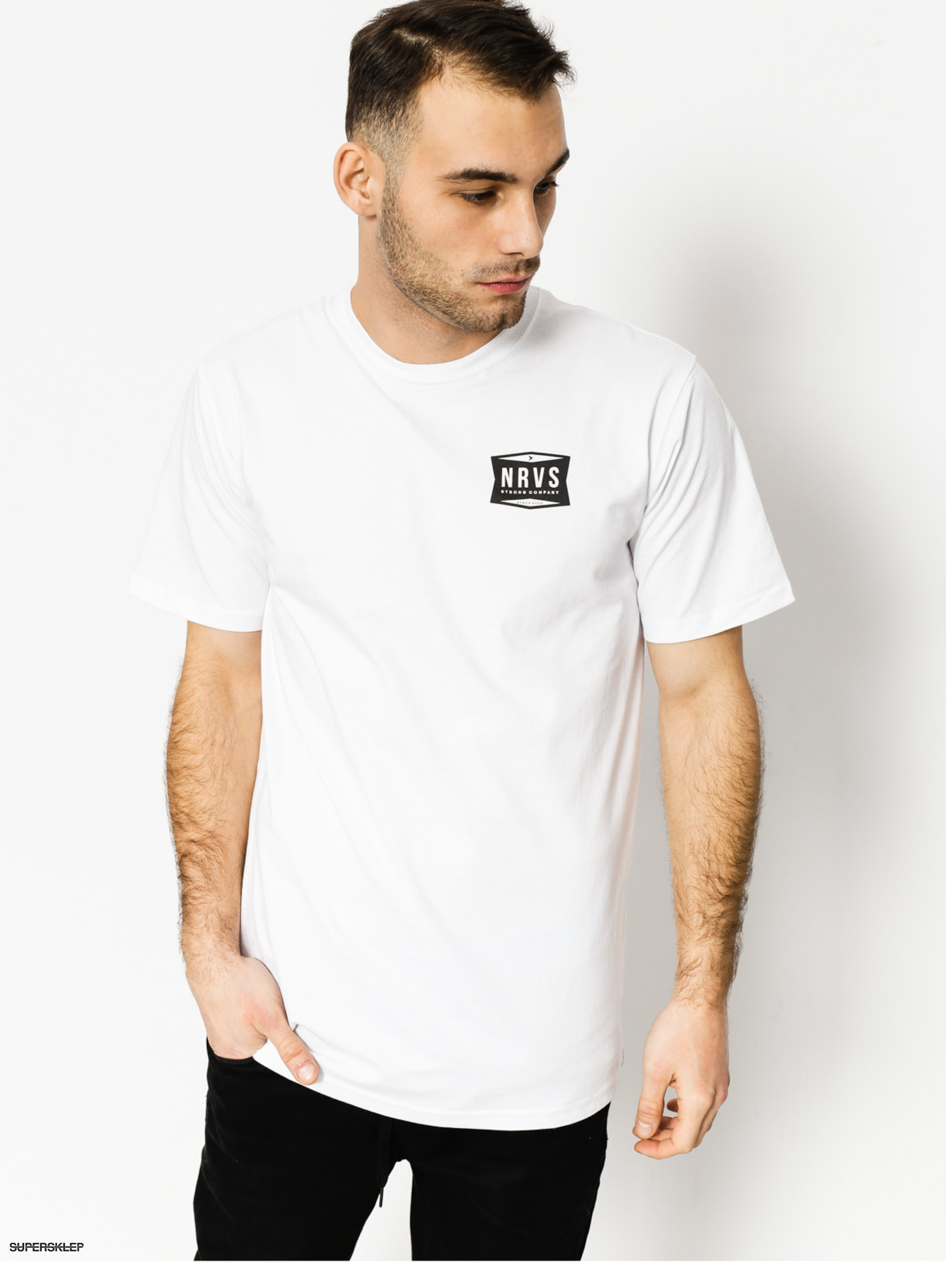 Tričko Nervous Shop (white)