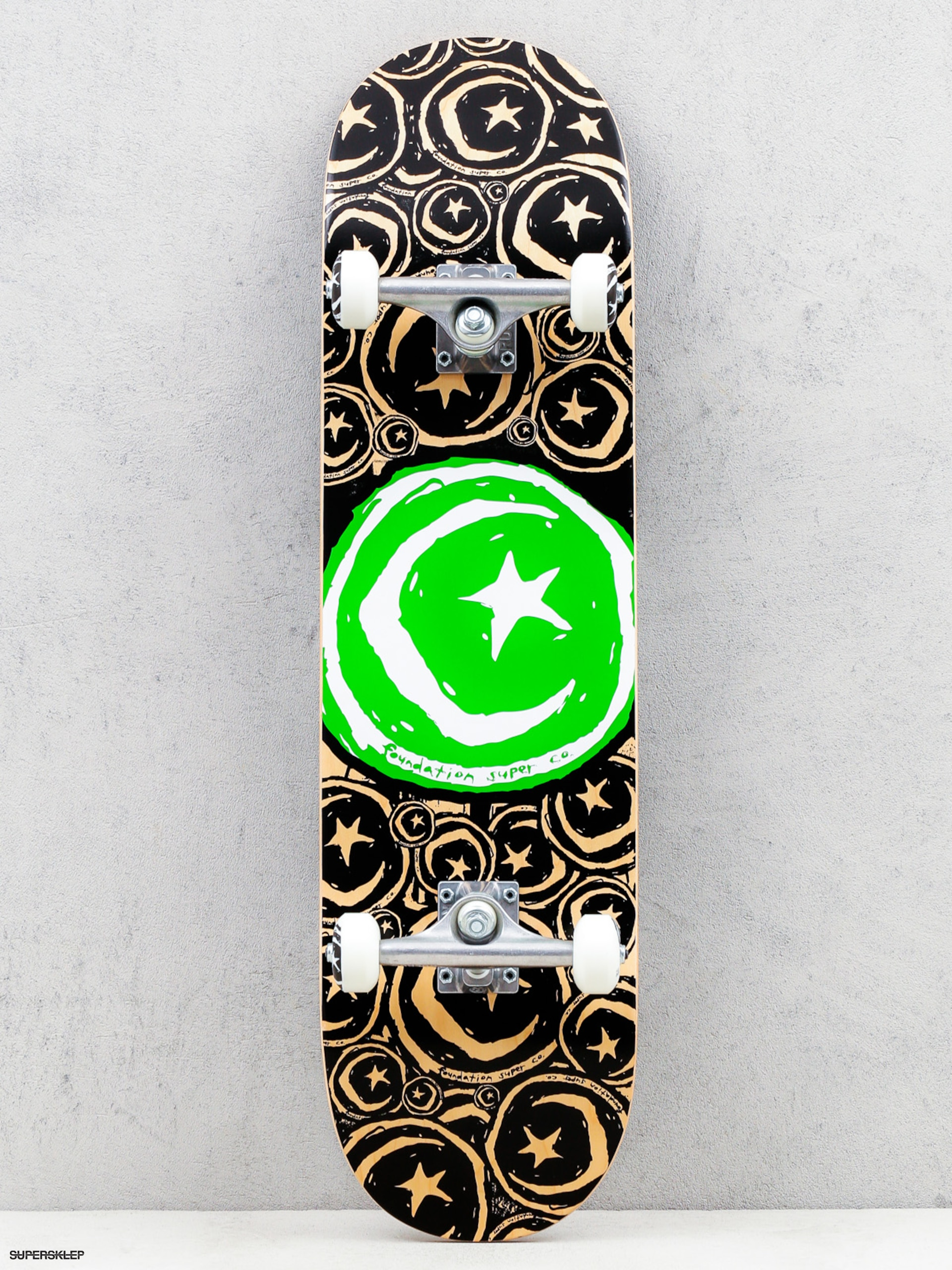 Skateboard Foundation Star And Moon (stickered green)