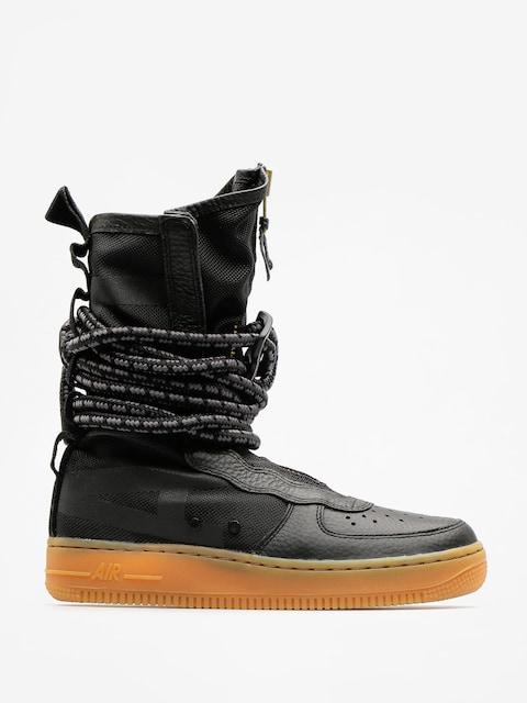 Boty Nike Sf Air Force 1 Hi Boot Wmn (black/black gum light brown)