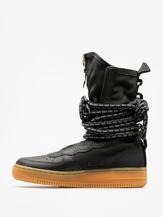 Boty Nike Sf Air Force 1 Hi Boot Wmn (black/black gum light brown)