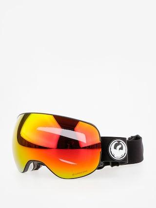 Bru00fdle na snowboard Dragon X2 (black/lumalens red ion/l rose)