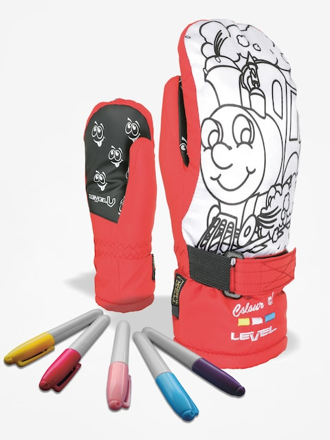 Rukavice Level Pop Art Jr Mitt (red)