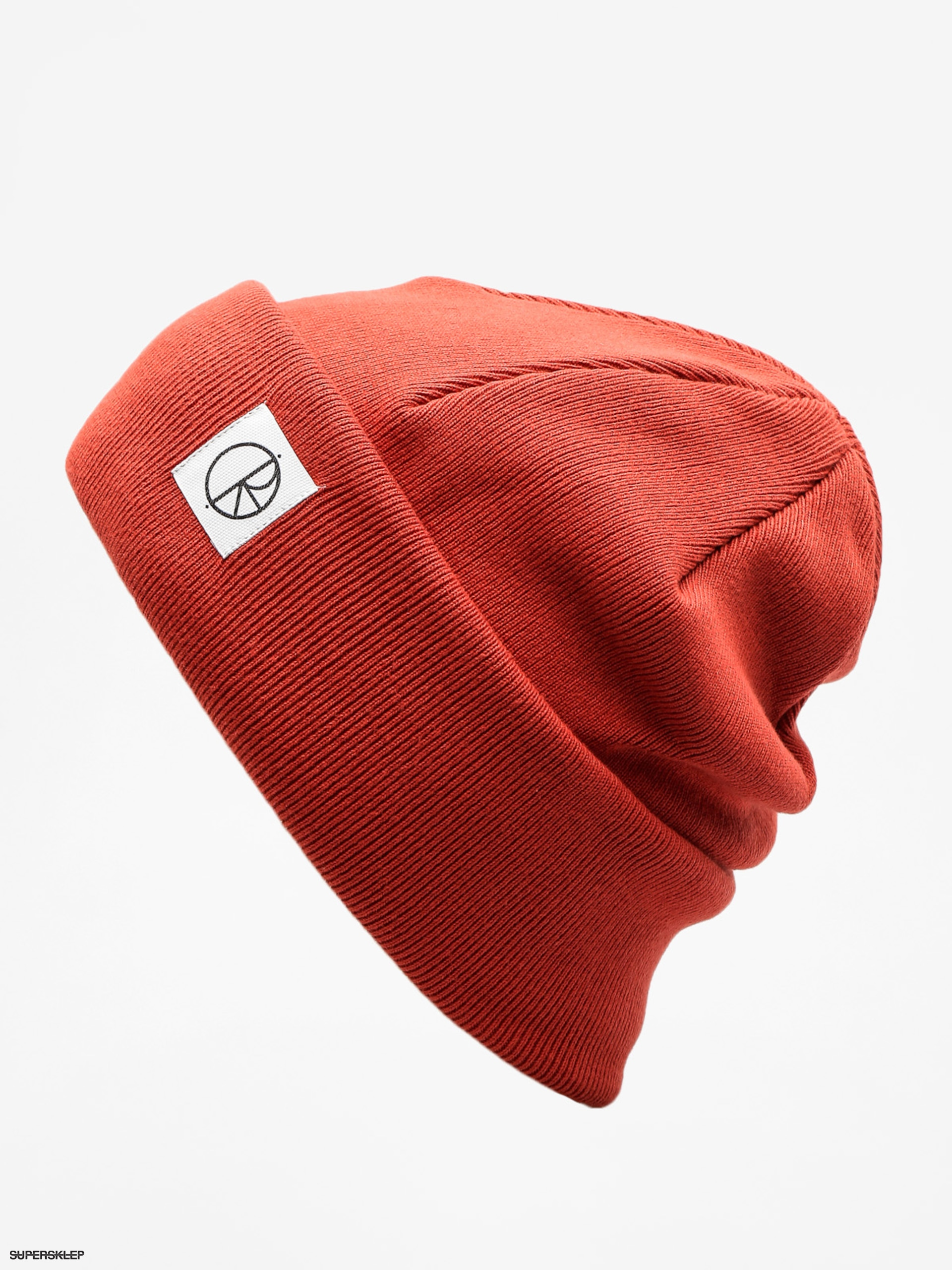 Čepice Polar Skate Double Fold Beanie (brick red)