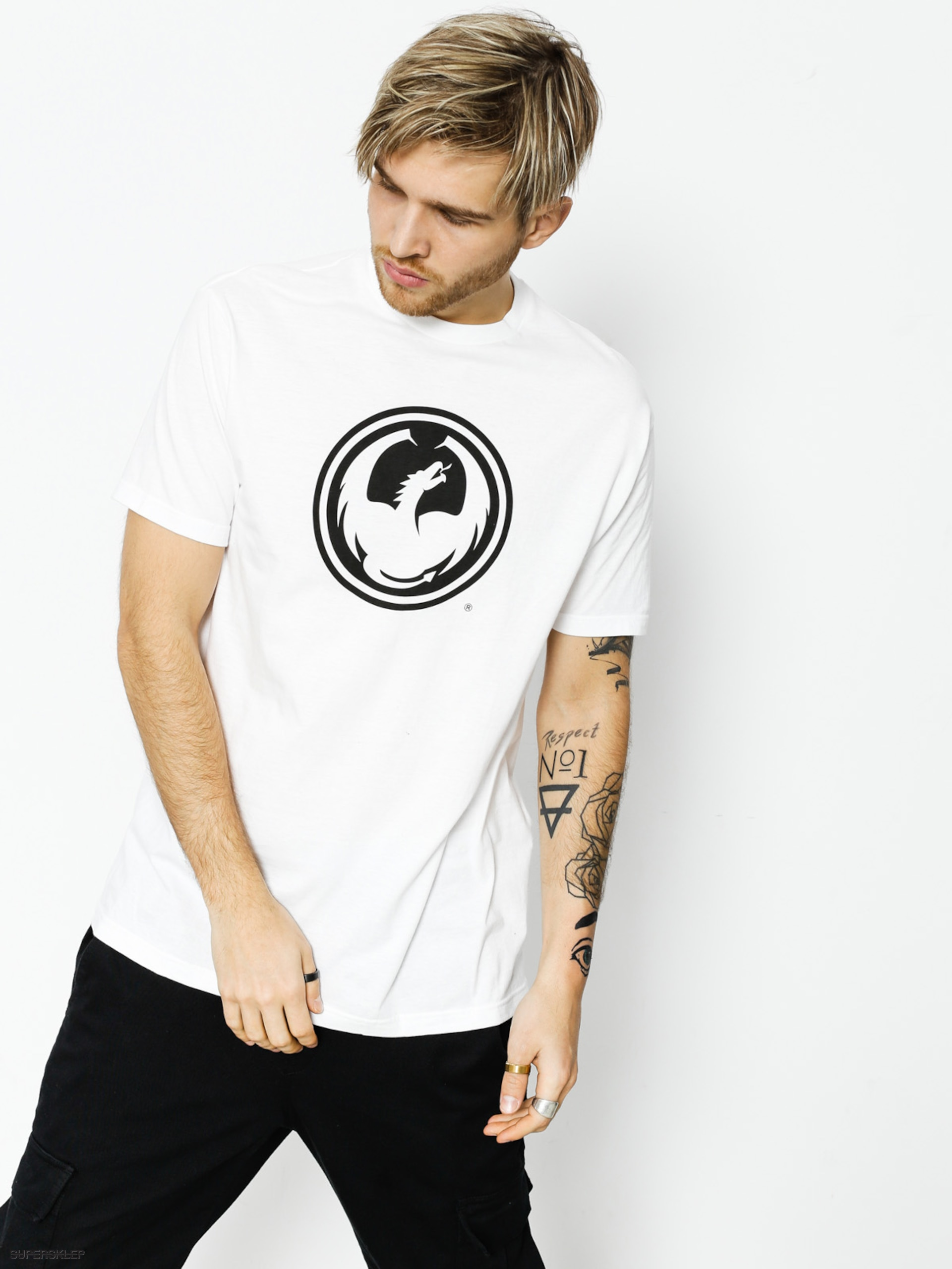 Tričko Dragon Icon Staple Line (white)