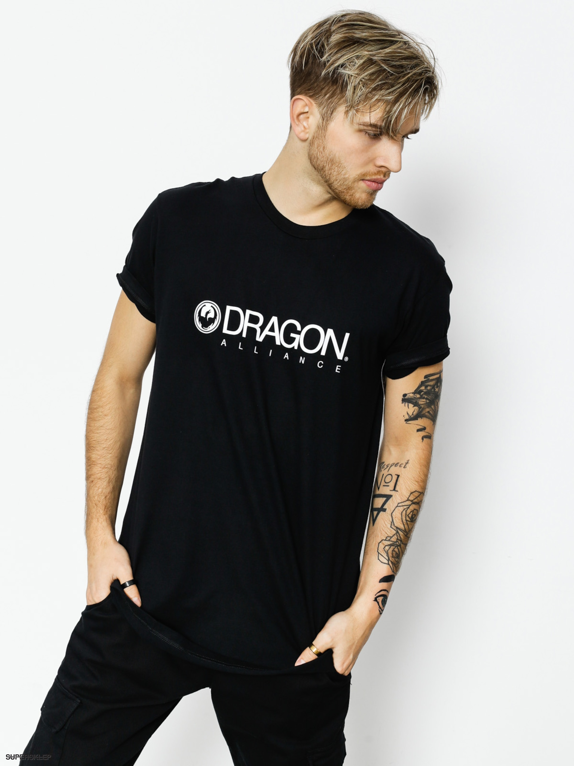 Tričko Dragon Trademark Staple Line (black)