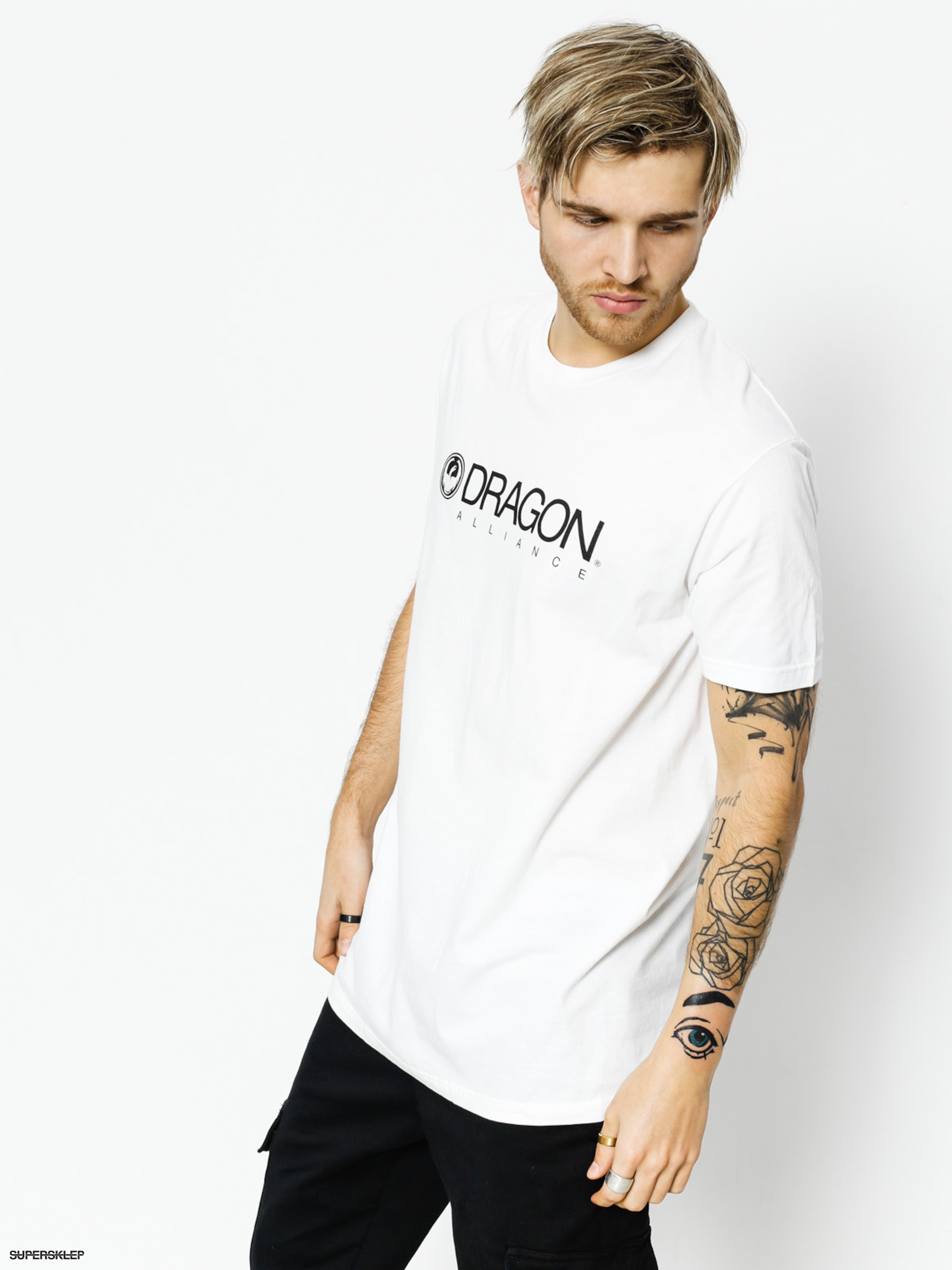 Tričko Dragon Trademark Staple Line (white)