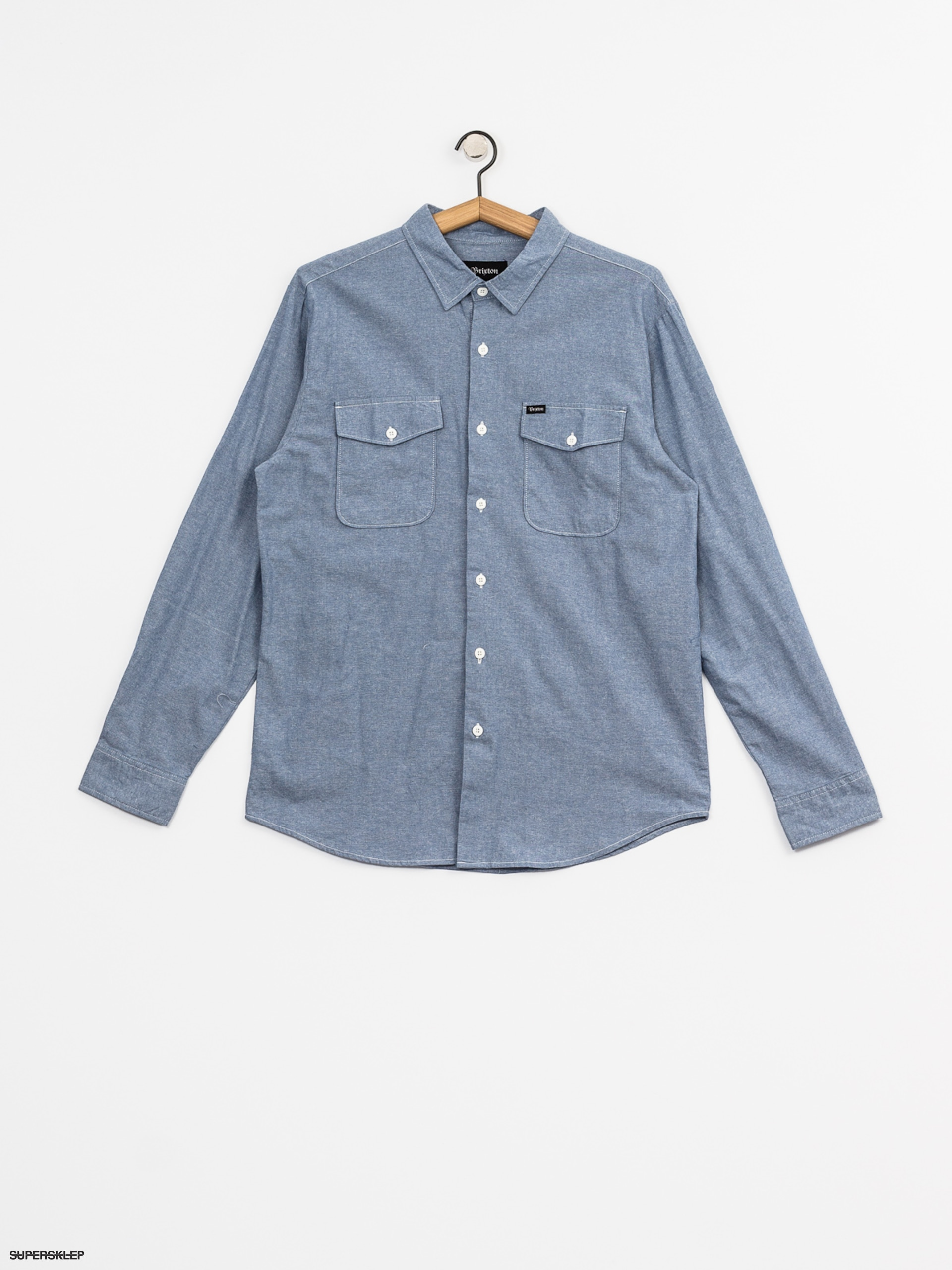Brixton Košile Davis Wvn Ls (light blue chambray)
