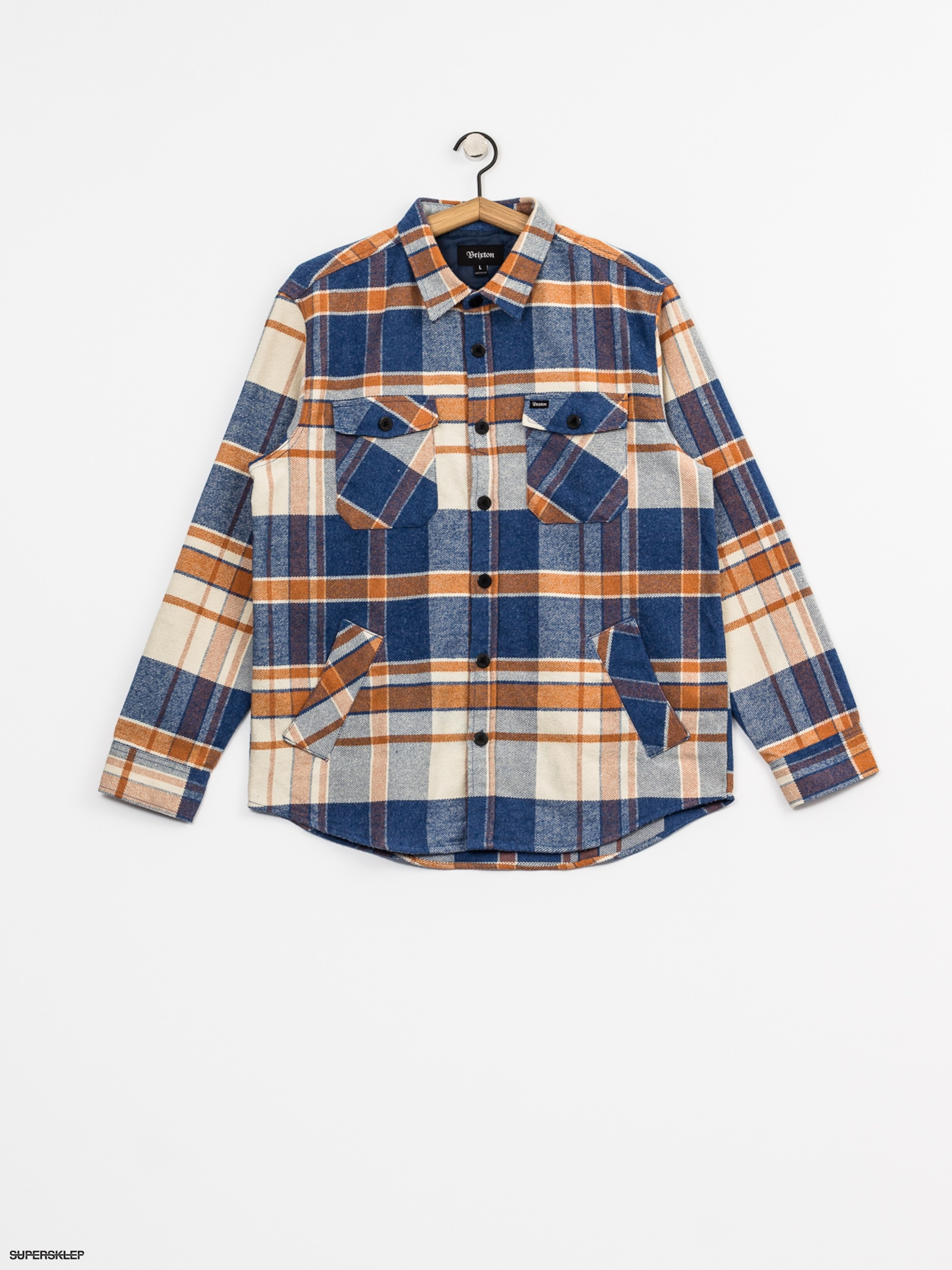 Košile Brixton Durham Flannel Ls (blue/orange)