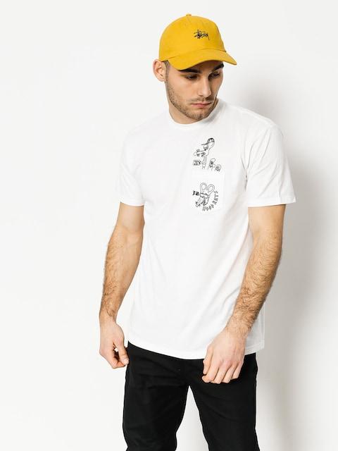 Tričko ThirtyTwo Hood Rats Hood Or Bust Pocket (white)