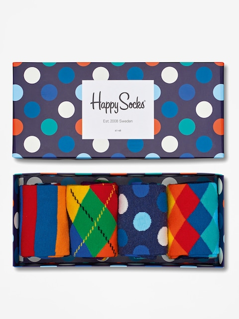 Ponožky Happy Socks Giftbox 4pk (navy/blue/white)