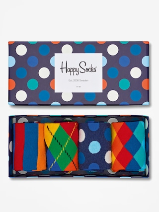 Ponou017eky Happy Socks Giftbox 4pk (navy/blue/white)