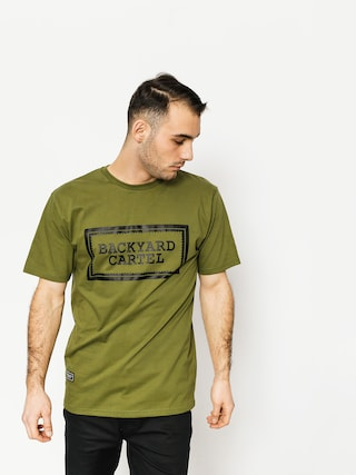 Tričko Backyard Cartel Label Logo (khaki)