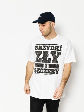 Tričko Tabasko Brzydki Zly Szczery (white)
