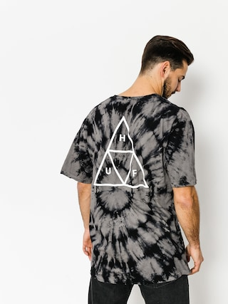 Tričko HUF Washed Triple Triangle (black)