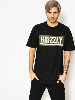 Grizzly Griptape Tričko Forester Stamp (black)