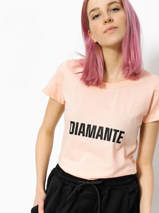 Tričko Diamante Wear Best Friend Worst Enemy Wmn (salmon)