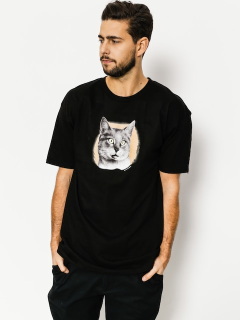 Tričko Skate Mental Cat (black)