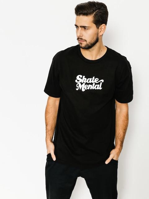 Tričko Skate Mental Script Logo (black)
