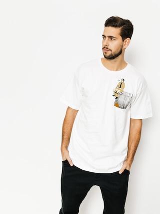 Tričko Skate Mental Upper Decker Pocket (white)