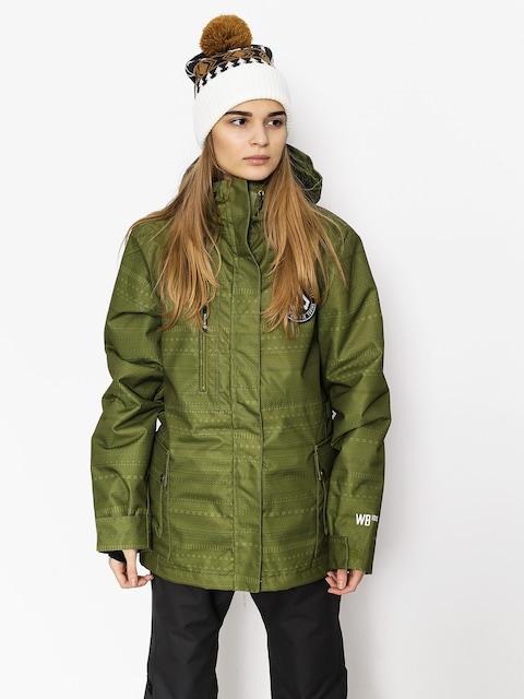 Snowboardová bunda Westbeach Crush Jacket Wmn (combat green fairisle)
