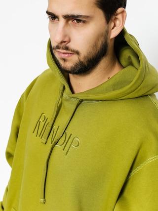 Mikina s kapucí RipNDip Logo Embroidered HD (olive)